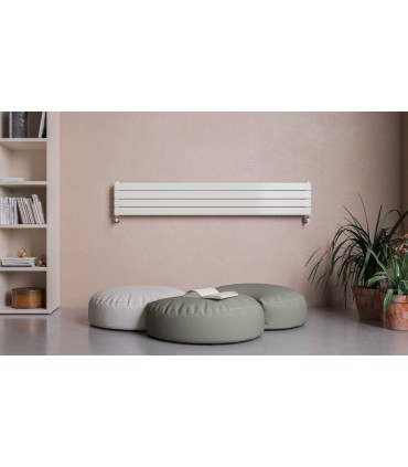 Olimpo radiador de Agua de diseño Blanco 1800x309