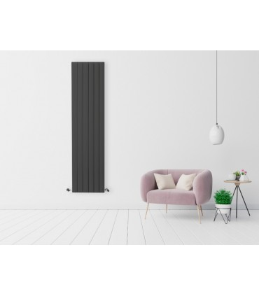 Olimpo radiador de Agua de diseño Antracita 1800x459